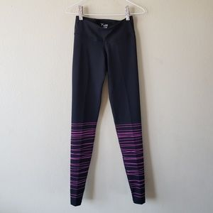 Old Navy Active Black Leggings w/ Pink Stripes